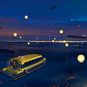 City P. Street Lights by Alex Andreev