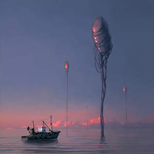 Stars Over The Sea by Alex Andreev